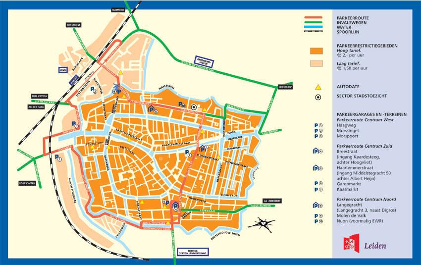 Parkeer kaart Leiden